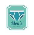 men underwear design vector image
