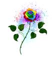 Rainbow Rose vector image vector image