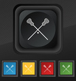 Lacrosse Sticks crossed icon symbol Set of five vector image