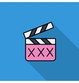 Adult movie clapper vector image