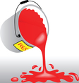 Bucket with red paint vector image