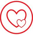 careful heart icon vector image