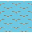 Orange bird seamless pattern vector image