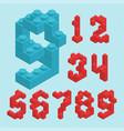 plastic blocs numbers vector image
