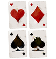 Poker cards set vector image