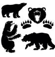 silhouette bear vector image