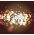 transparent bokeh effect vector image