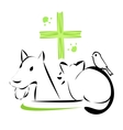 veterinary clinic emblem vector image