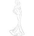 woman in evening maxi dress vector image vector image