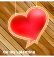 Valentines day concept with copyspace  EPS8 vector image vector image