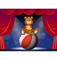 A circus show with a bear vector image