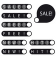 stickers sale free new hit label vector image