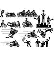 ICON MAN MOTO GP vector image