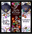 banners of jewelry fashion accessories vector image