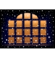 snow night extra large window vector image vector image