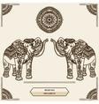elephant mehendi vector image vector image