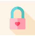 Padlock with heart vector image