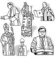 Bishop Set vector image vector image