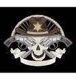 Sheriffs skull vector image