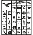 Halloween icons black vector image