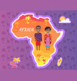 africa continent african people national vector image