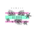 aloha hawaii stylish poster trendy graphics vector image