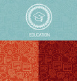educational logo design vector image