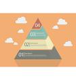 Four Step Pyramid Diagram vector image
