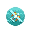 Hydroplane icon Summer Vacation vector image