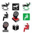 Reader icons vector image