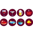 set of food and drink icons vector image
