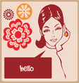 Woman retro comics style post card vector image vector image