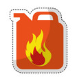 gallon with flame isolated icon vector image