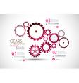 gears pinka vector image
