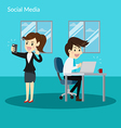 Social Addiction vector image