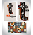 Ancient Business card design LETTER T vector image