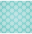 Blue seamless snowflake pattern vector image