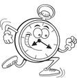 Cartoon running clock vector image