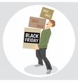 Digital black friday sale inscription vector image