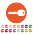 The key icon Key symbol Flat vector image