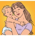 young mother baby vector image