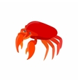 Red crab icon cartoon style vector image