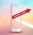 Pink smartphone mockups like iPhone vector image