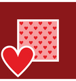 card with heart pattern vector image vector image