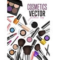Modern Cosmetics Accessories Concept vector image