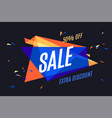 colorful banner with text sale vector image