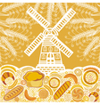 Bakery bread background vector image vector image