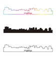 Halifax skyline linear style with rainbow vector image vector image