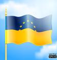 Europe Ukraine Flag vector image