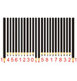 black pencil barcode vector image vector image